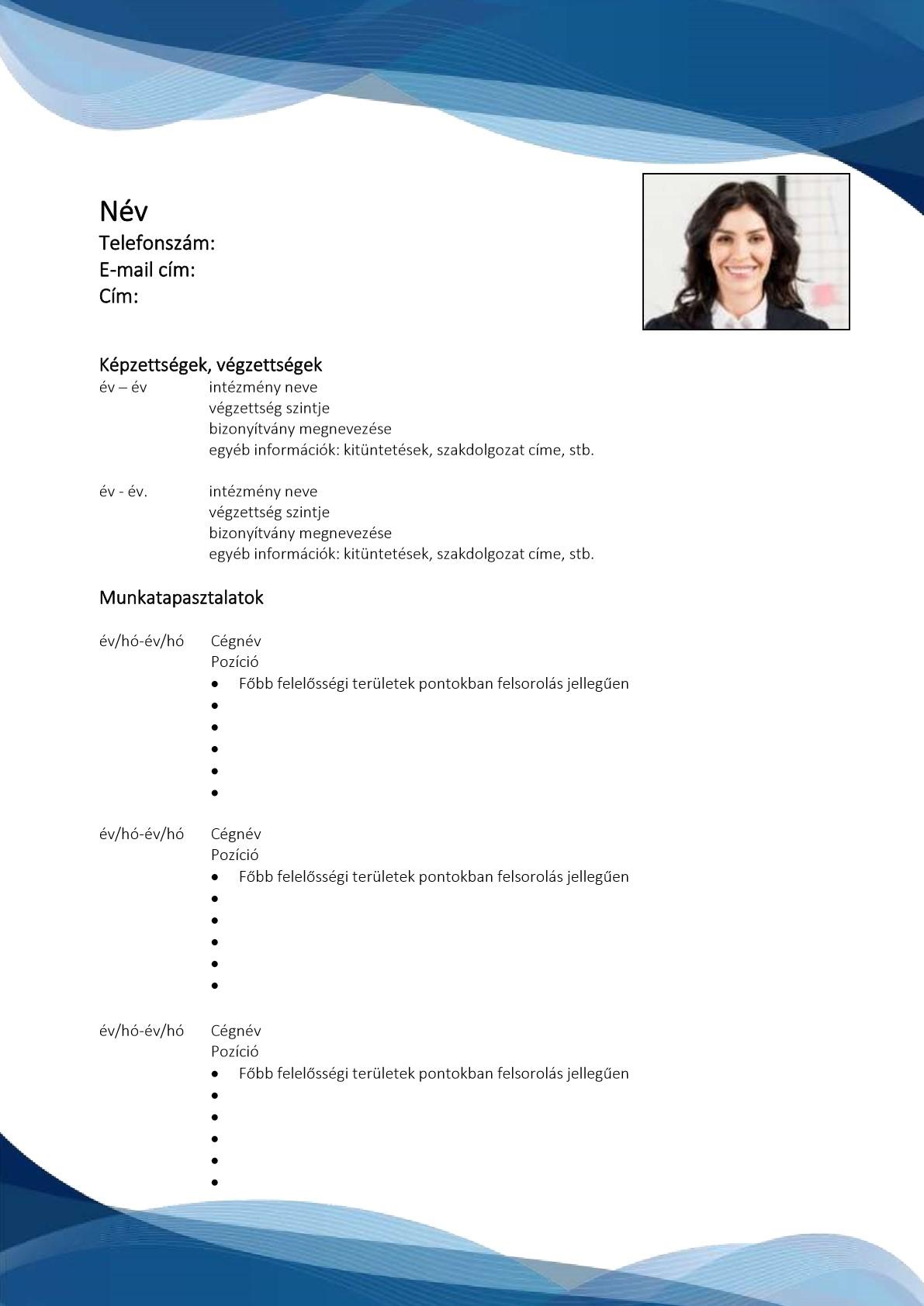 CV minták 1